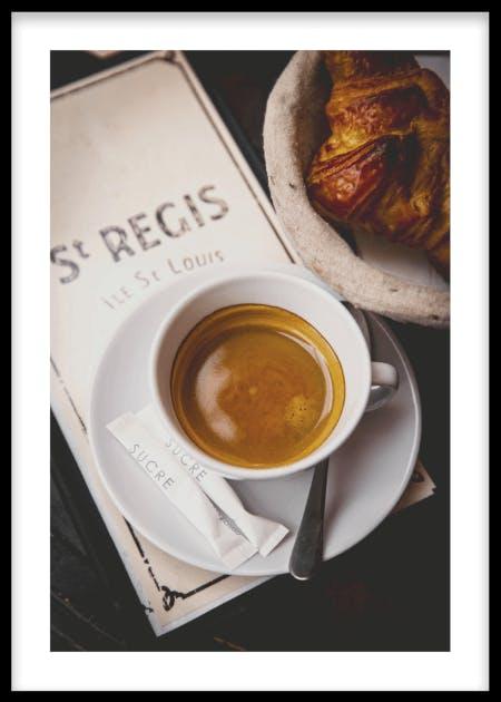 Parisian coffee poster