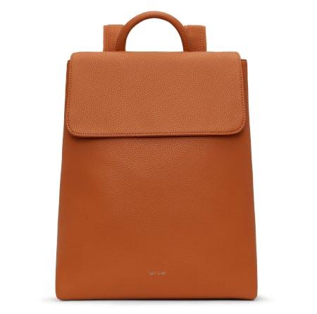 vegan leather backpak