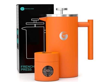 Orange coloured coffee maker