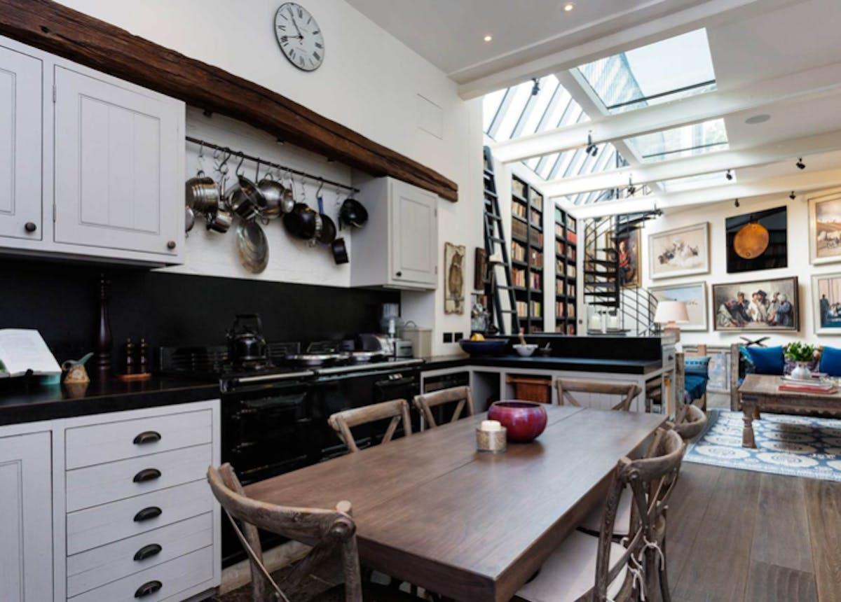 stylish London open plan kitchen