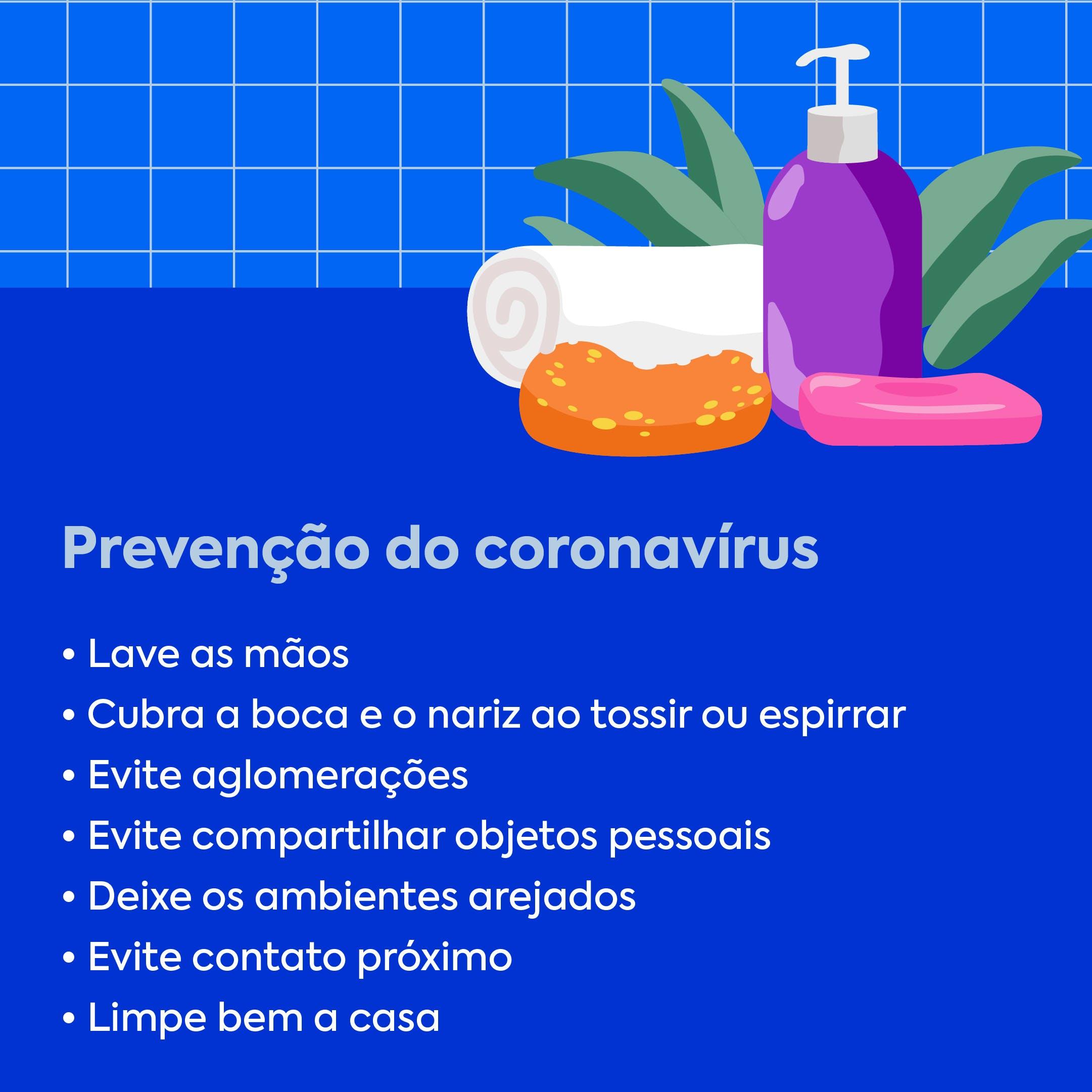 prevenção do coronavirus