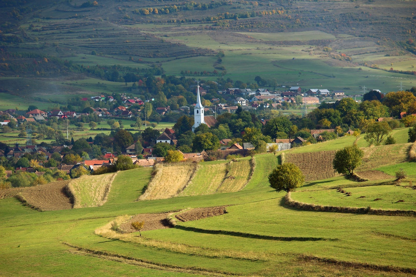 Green hills of Transylvania