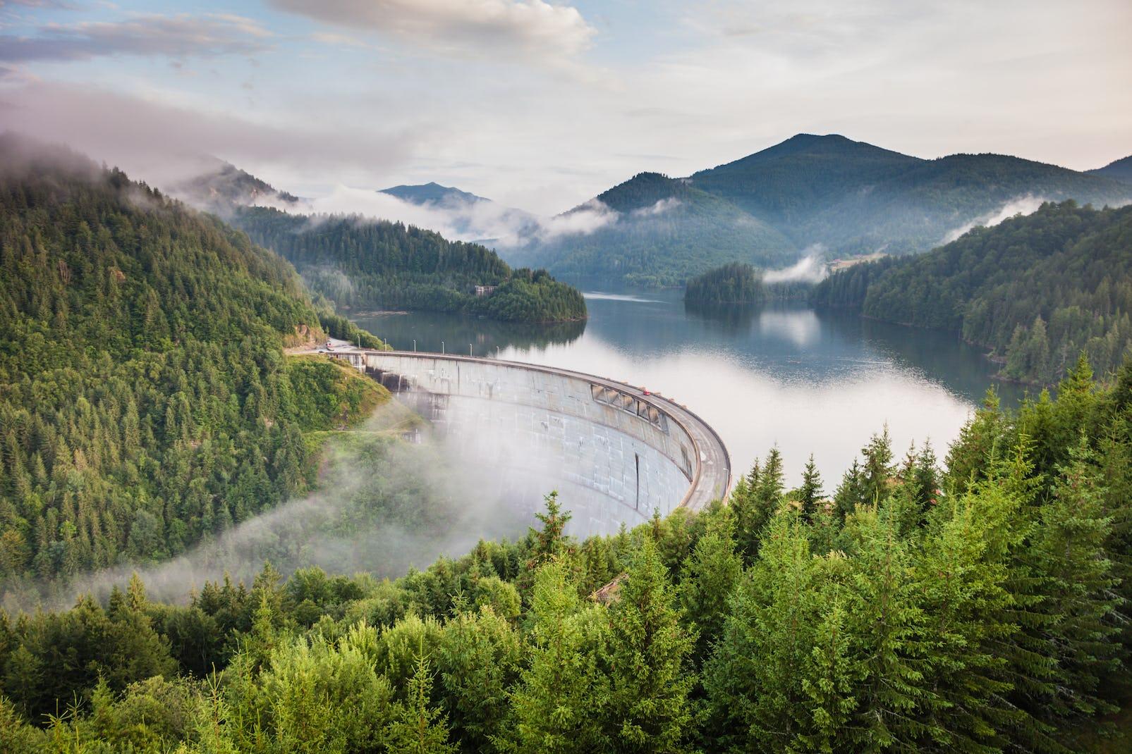 Wasserdamm aus Transsilvanien