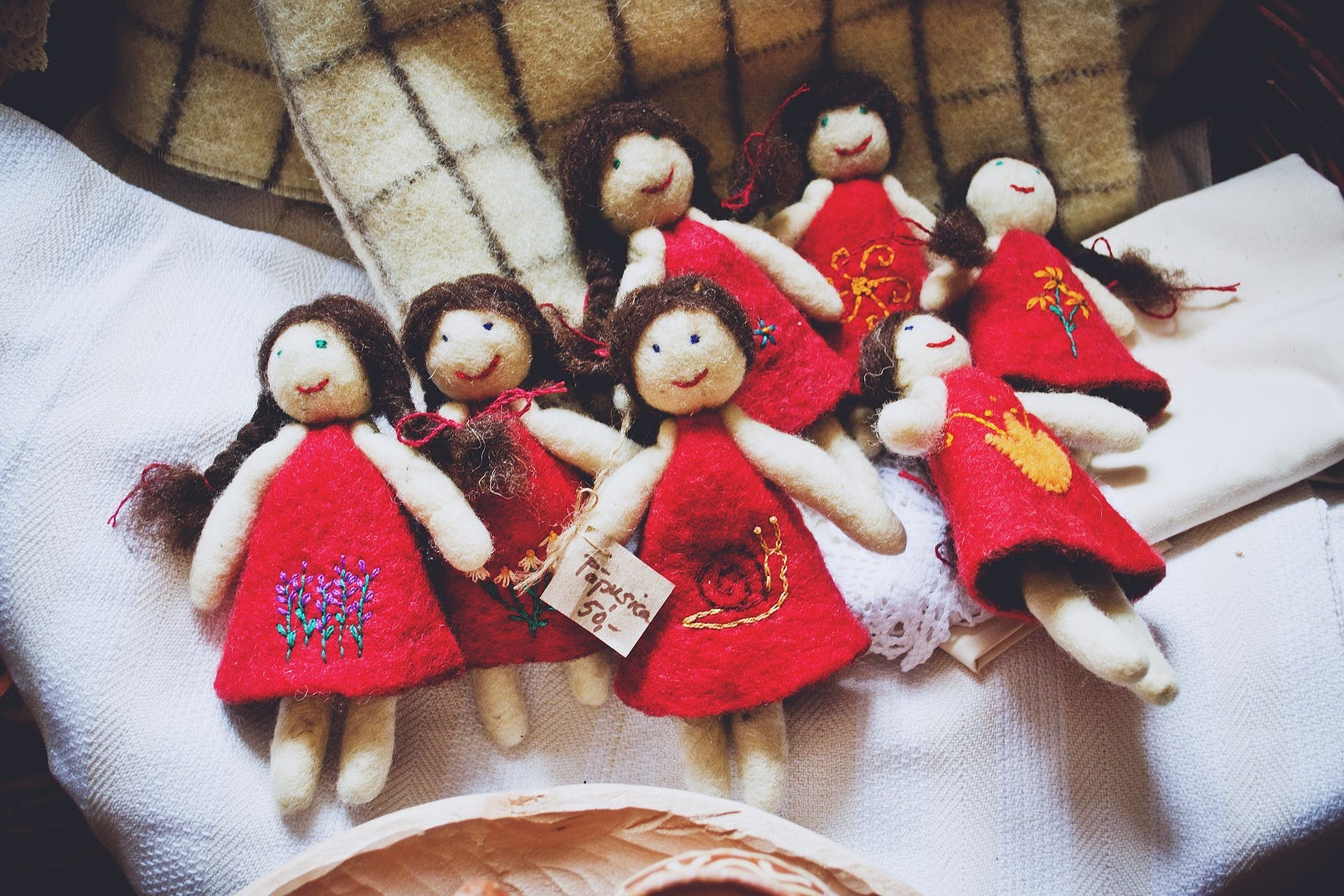 Handmade dolls traditional from Transylvania