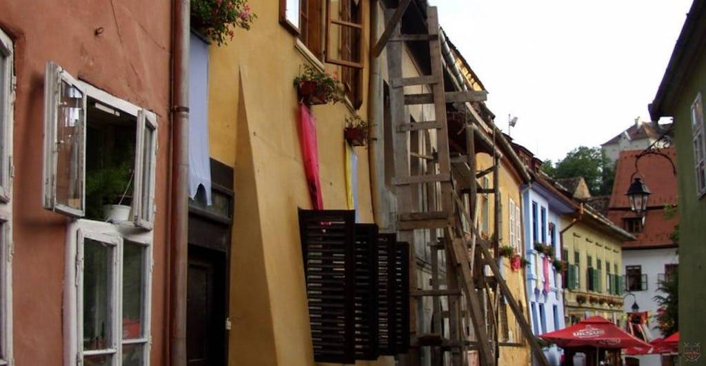 Farbige Häuser im Schässburg