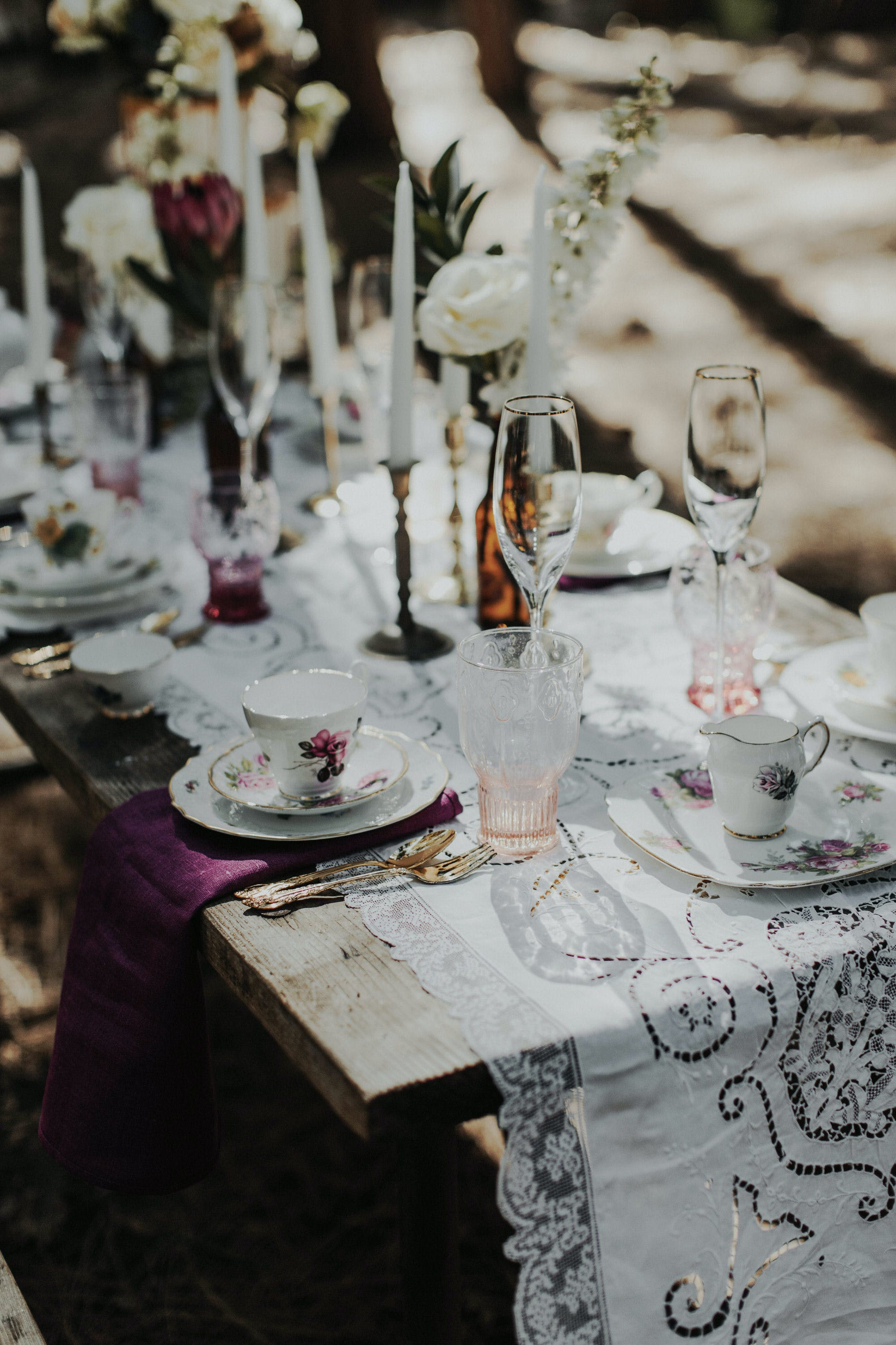 tablescape for a yosemite elopement