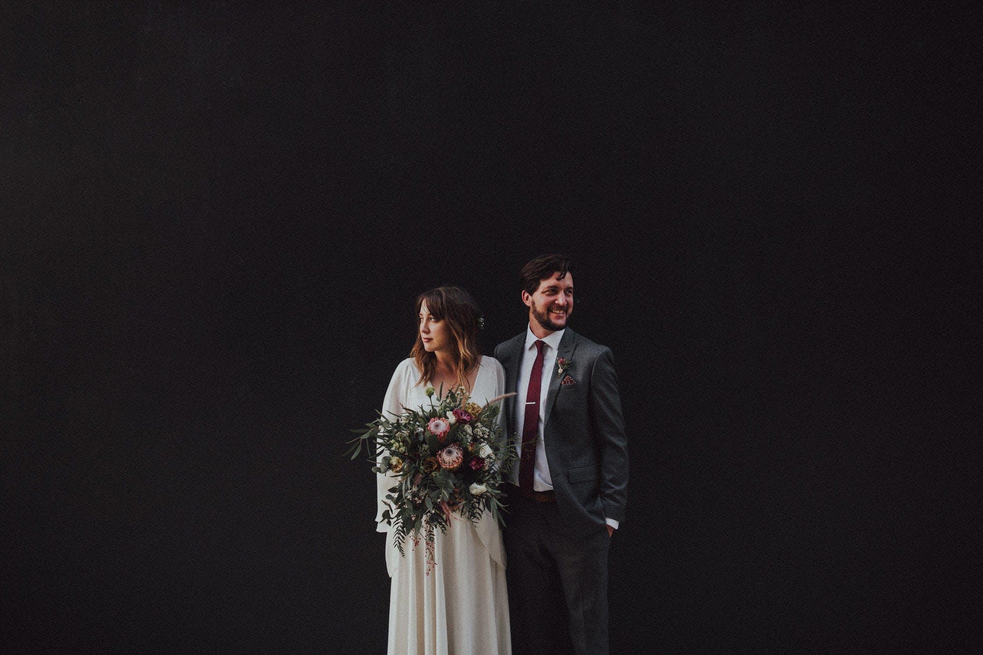 DTLA wedding portraits