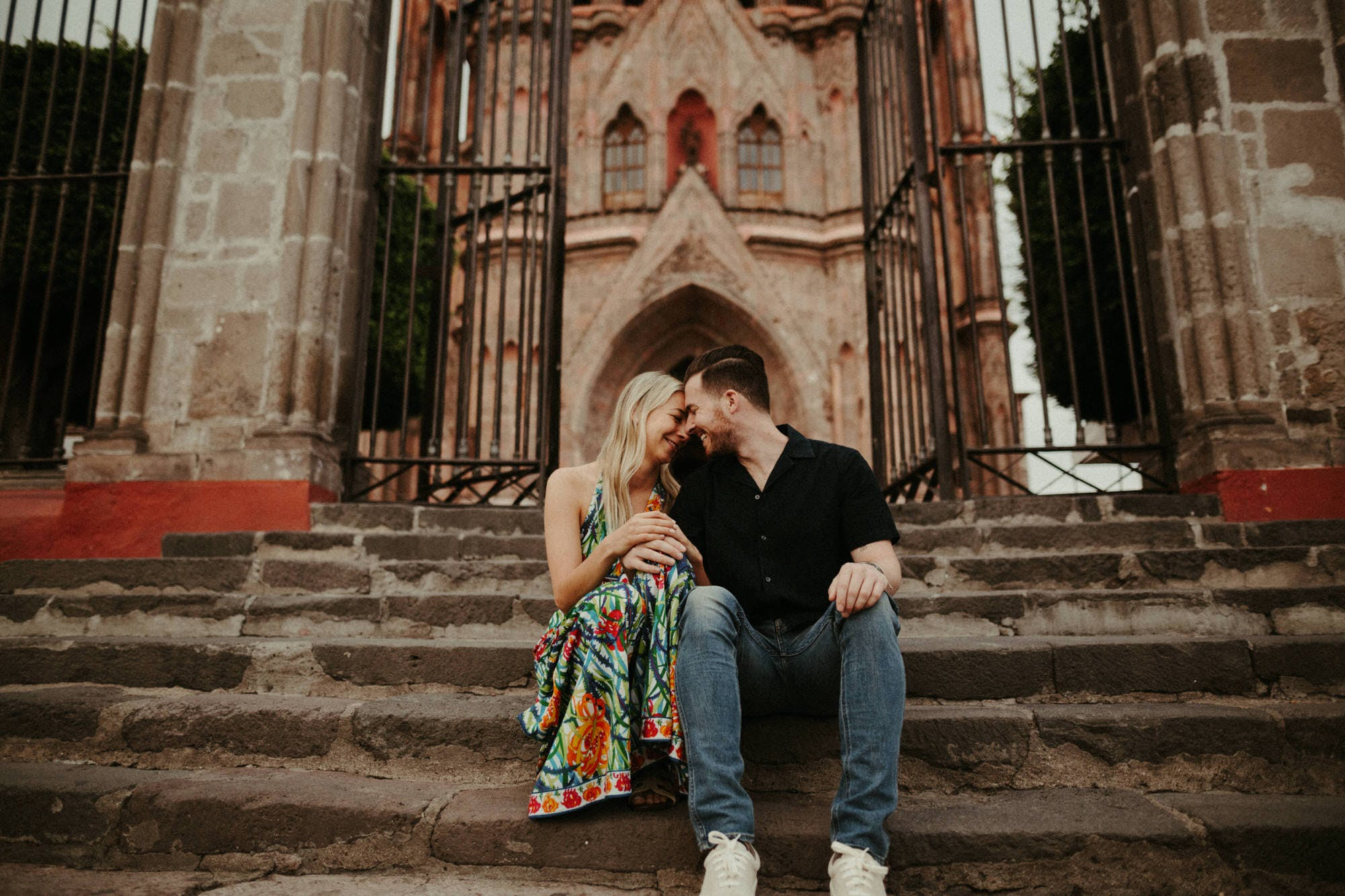 brooklyn couple having destination engagement photos