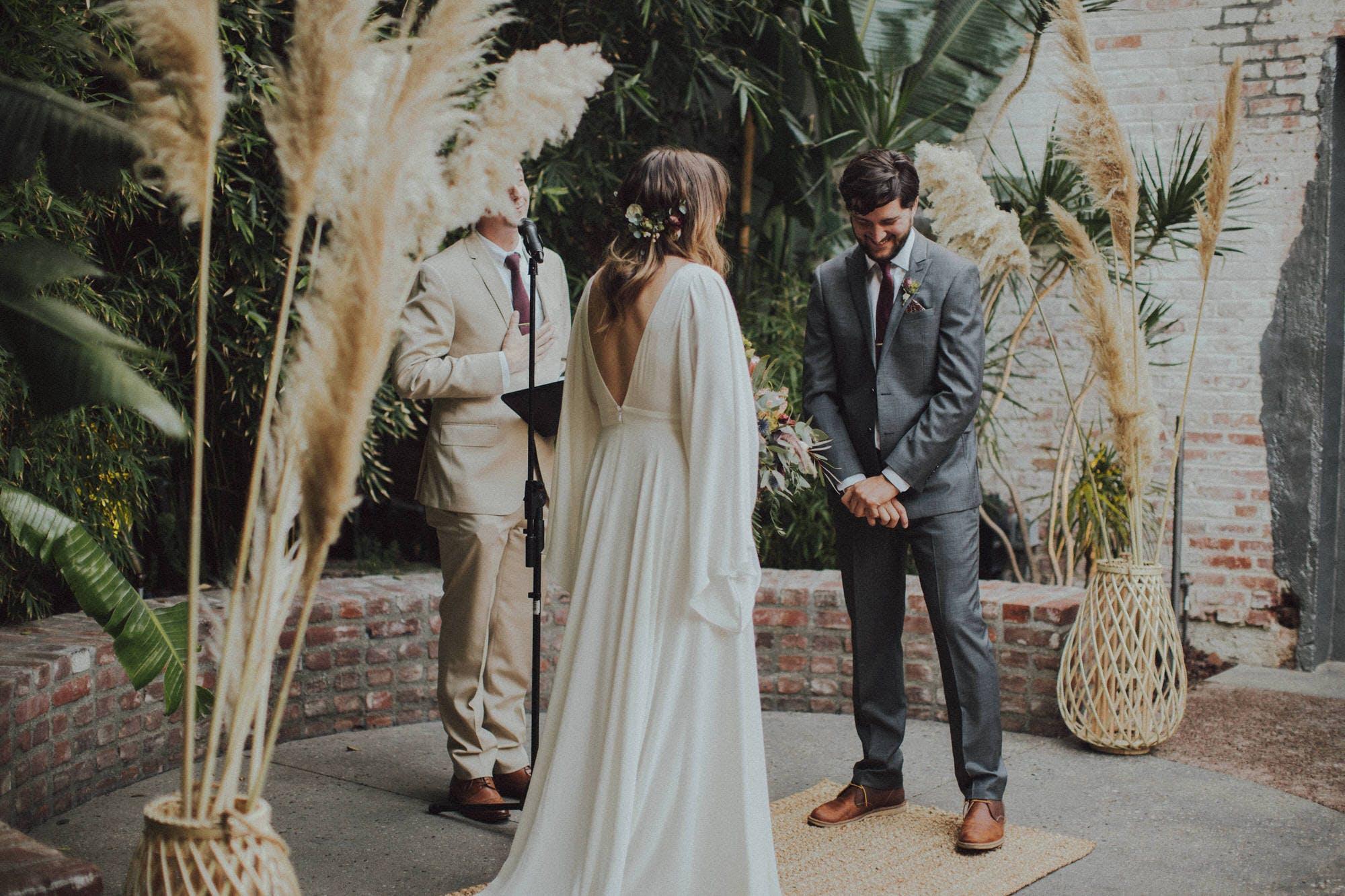 Pampus Grass wedding decor