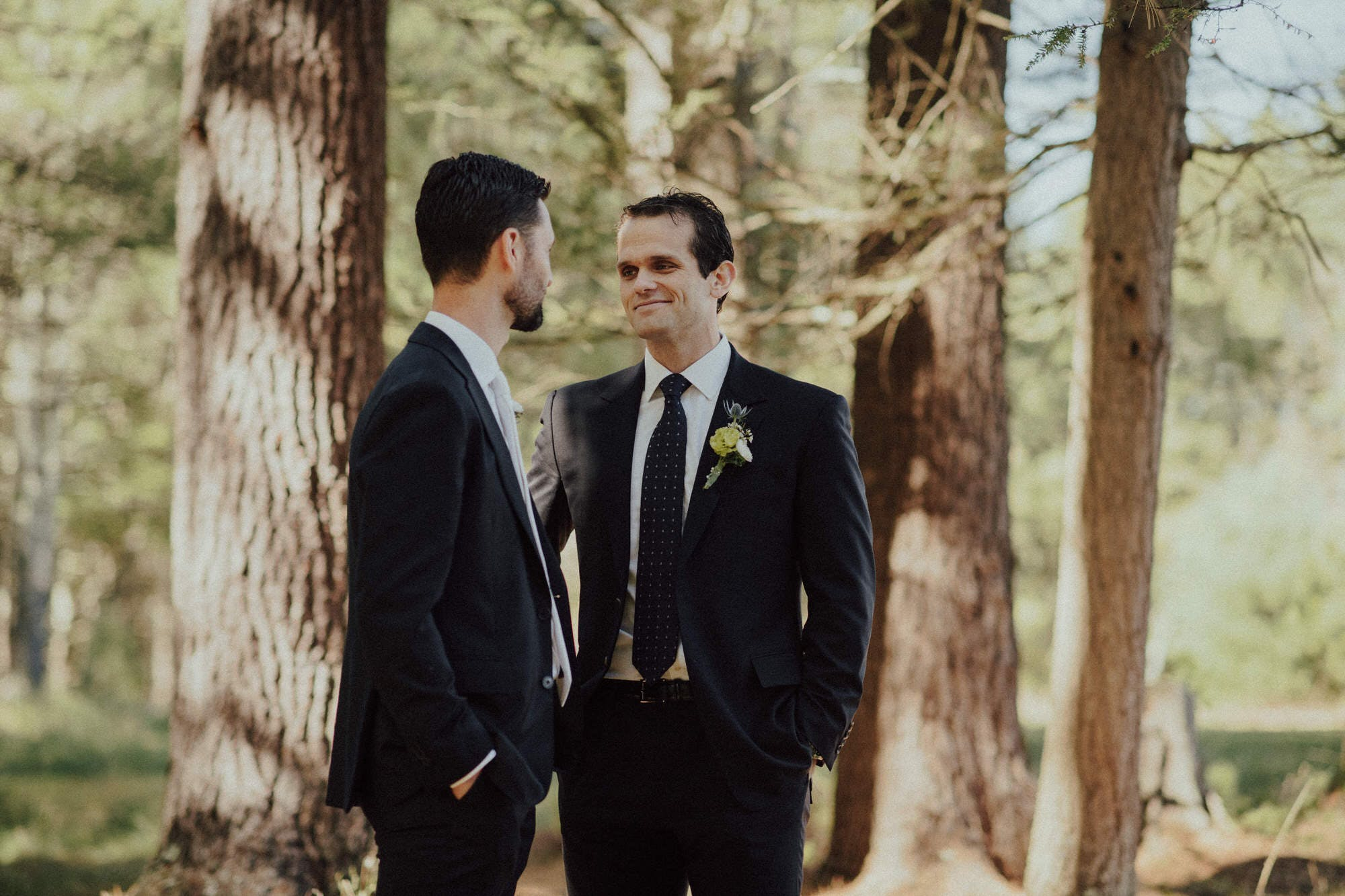 best man having a moment with groom before ceremony