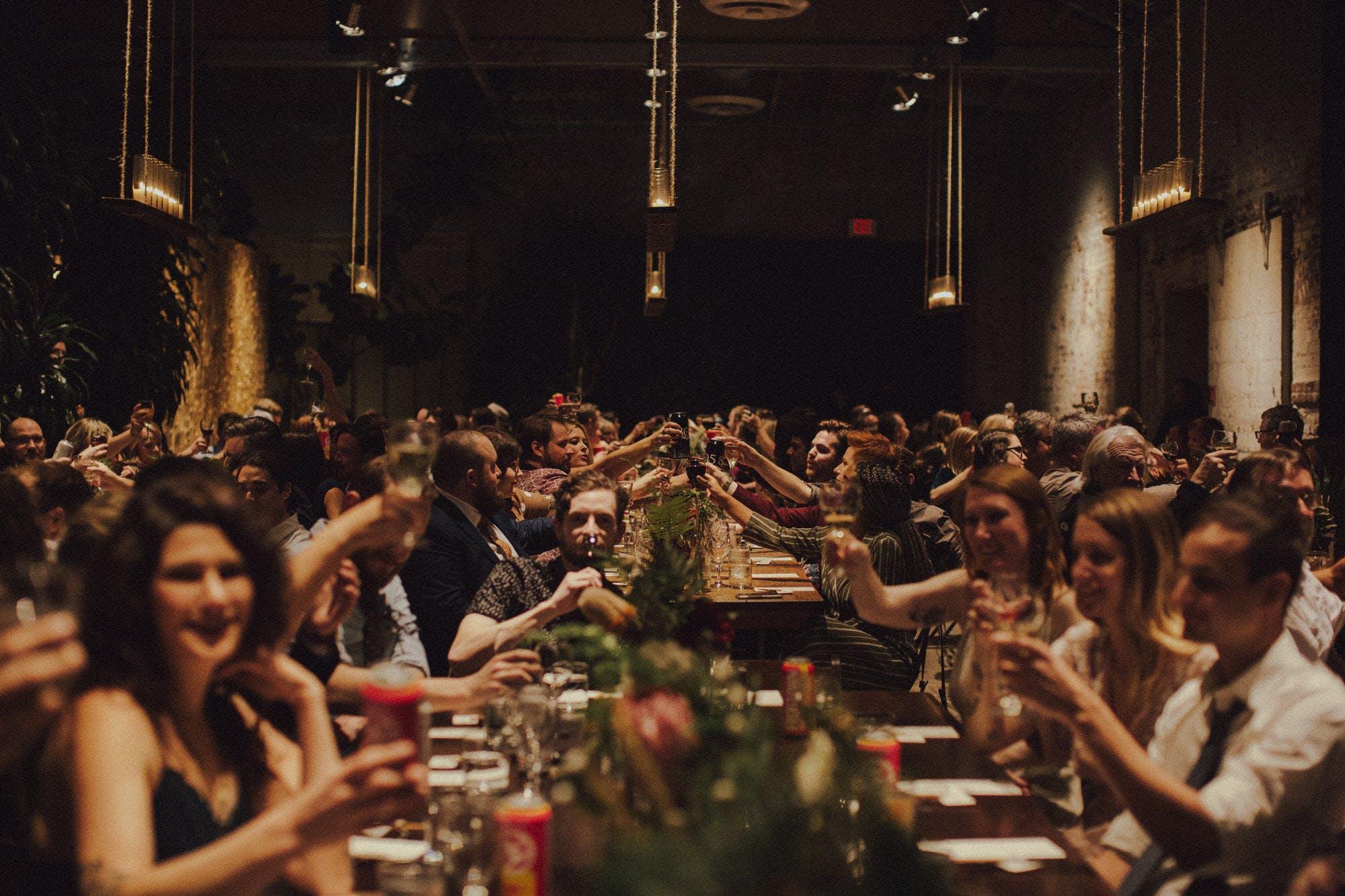 family style wedding reception