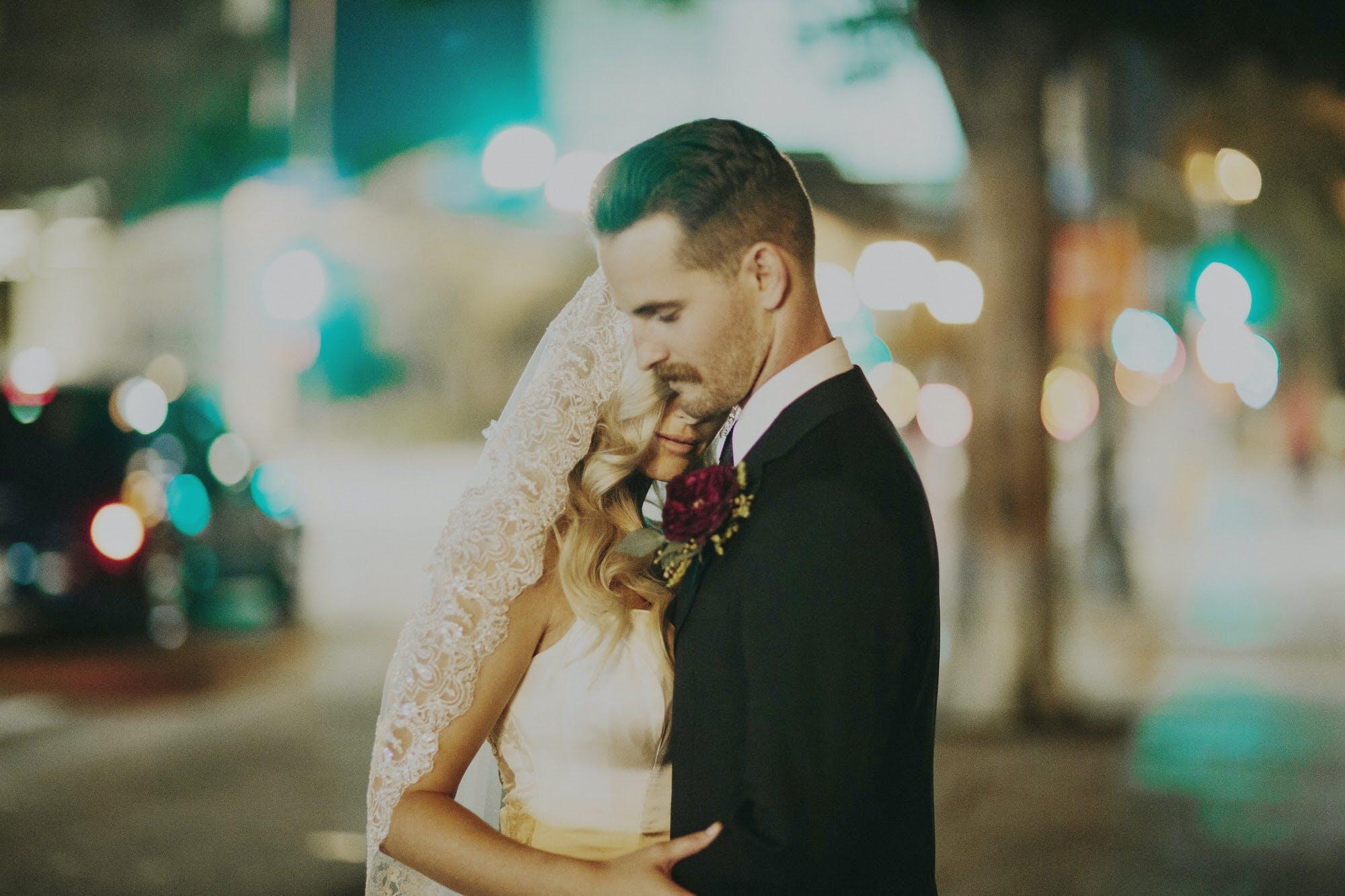 city streets wedding photography