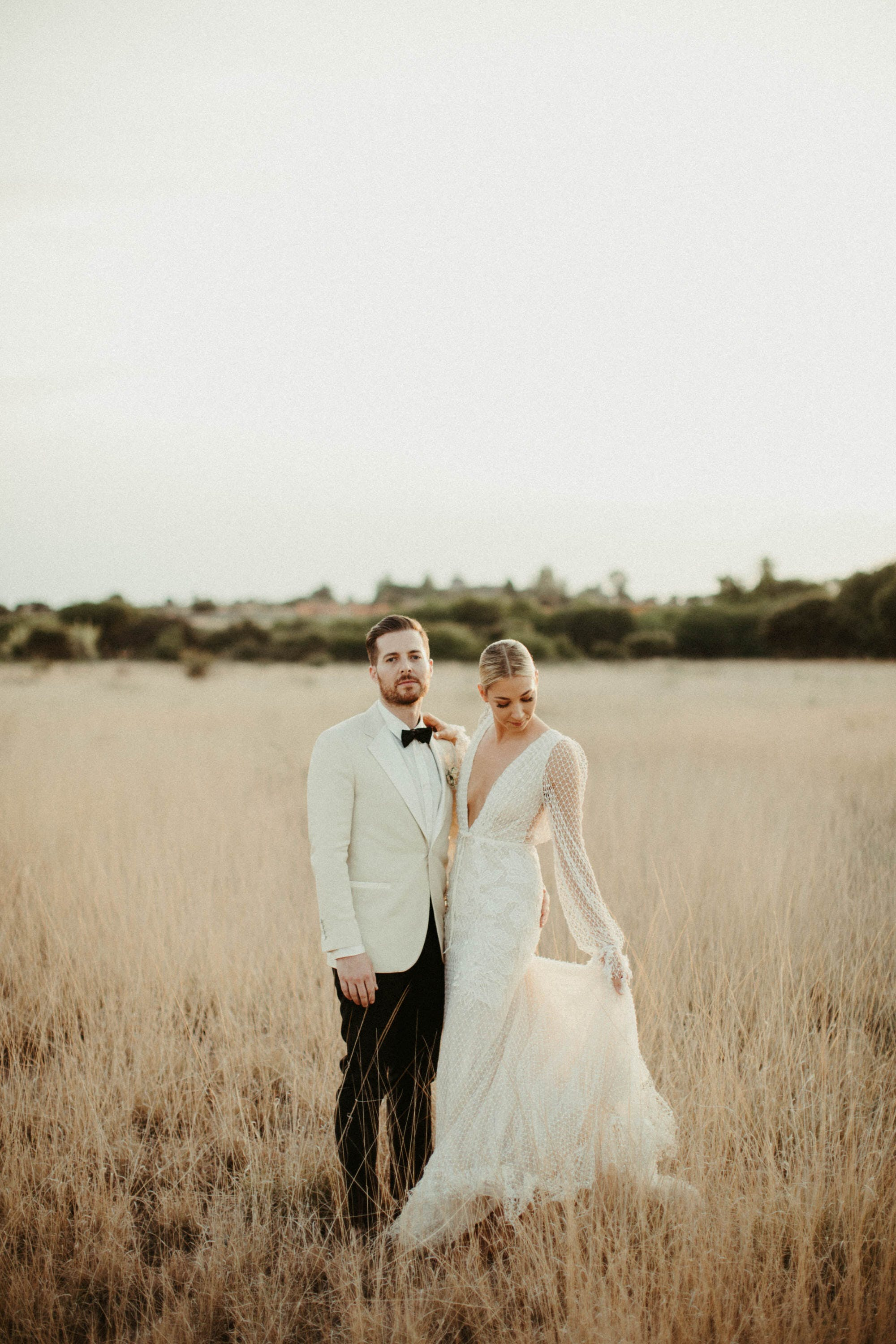 editorial inspired wedding portraits