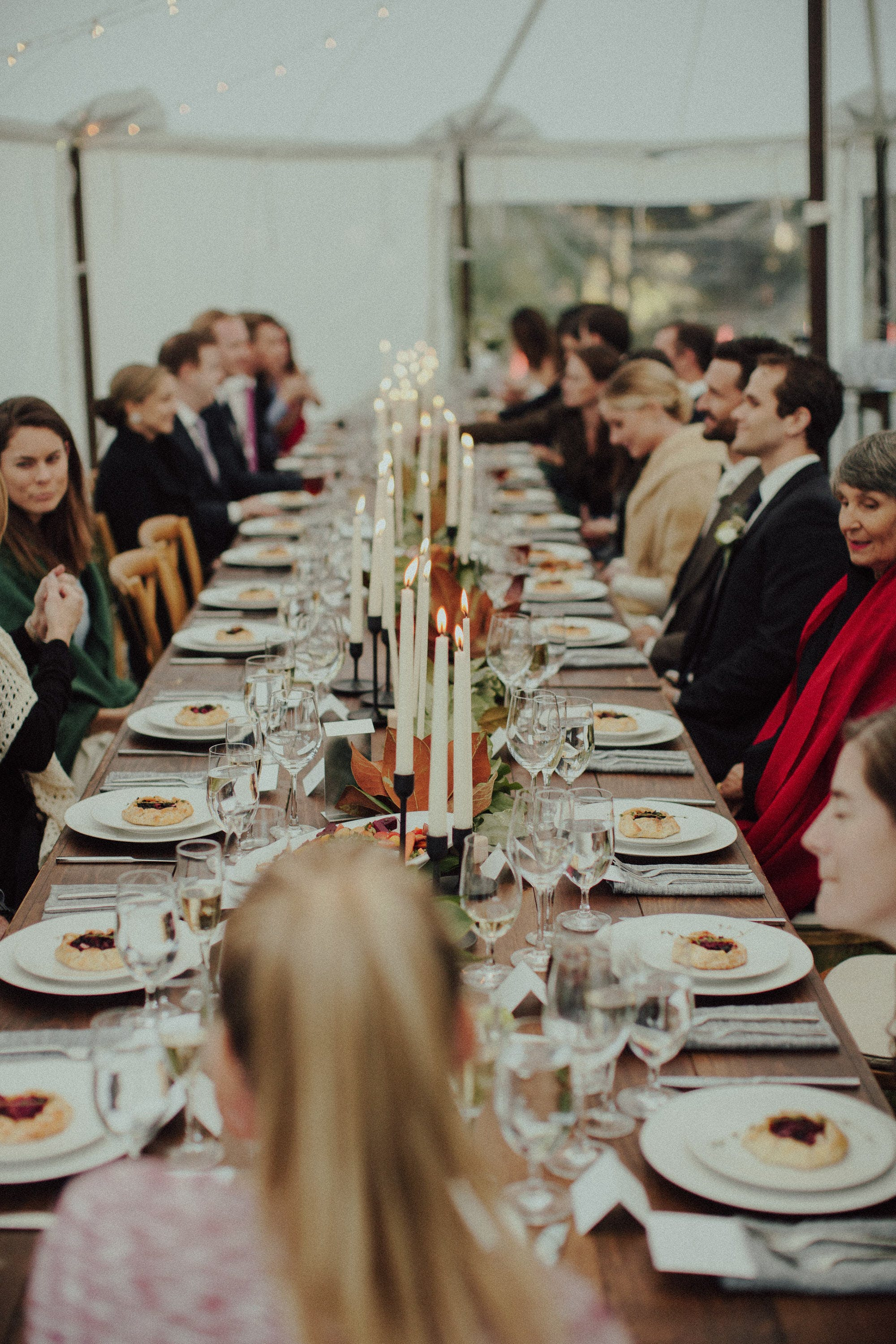 family style table reception