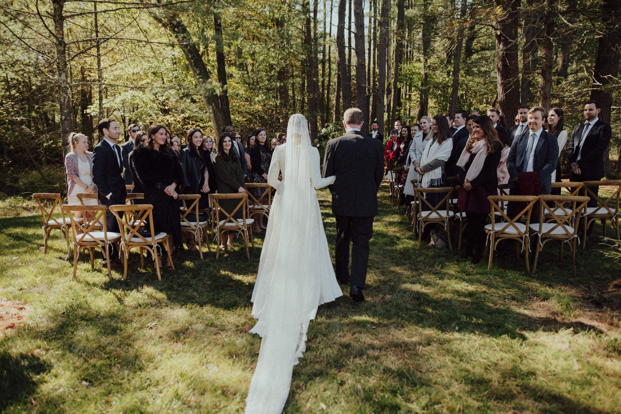outdoor fall wedding in catskills