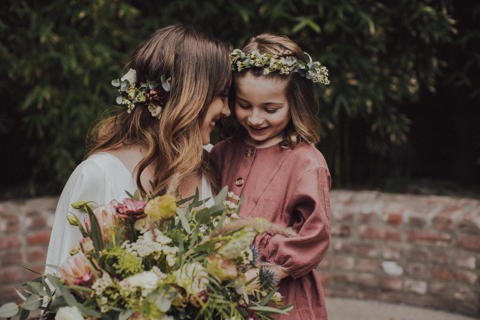 floral crown flower girl