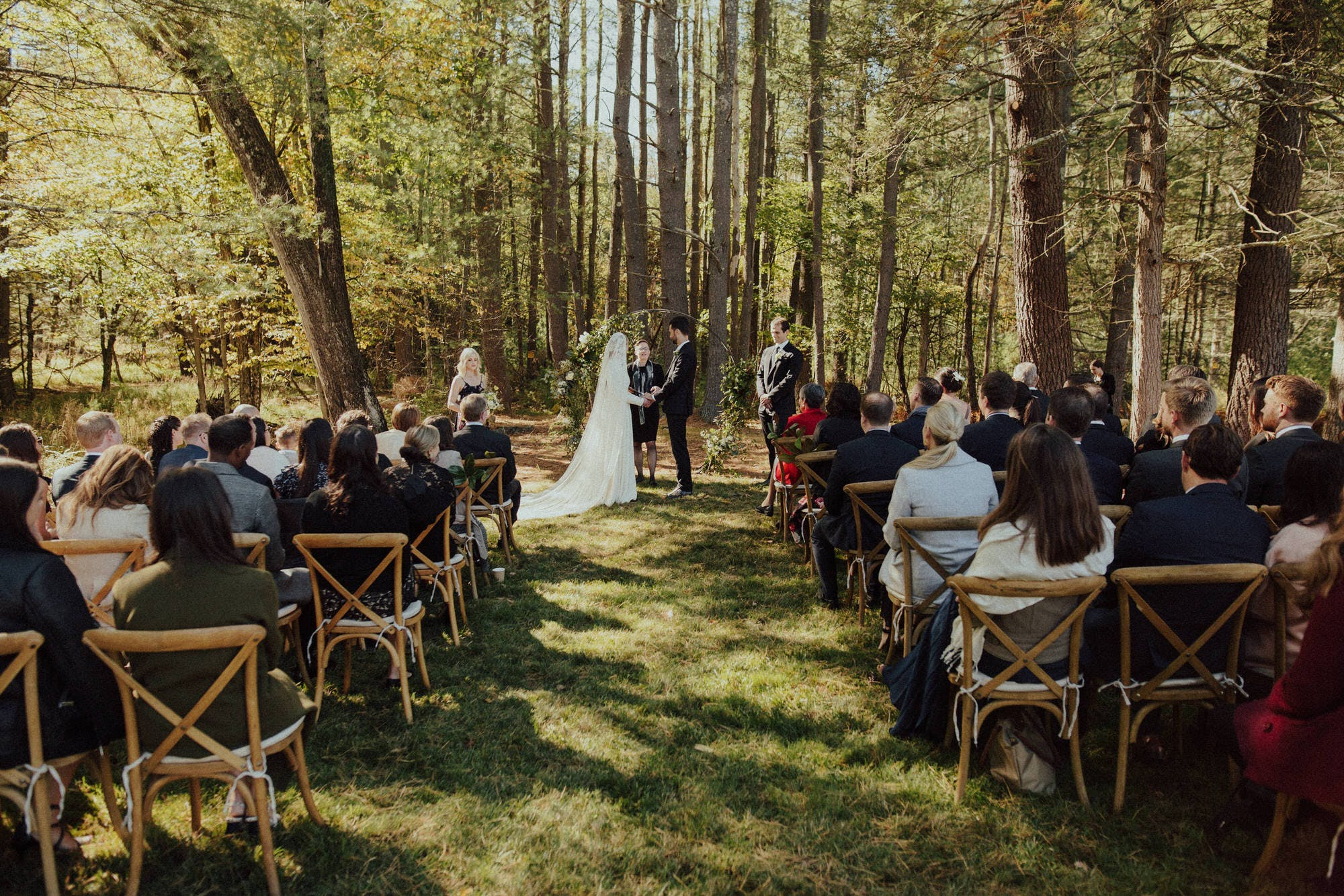 catskills NY wedding in the woods