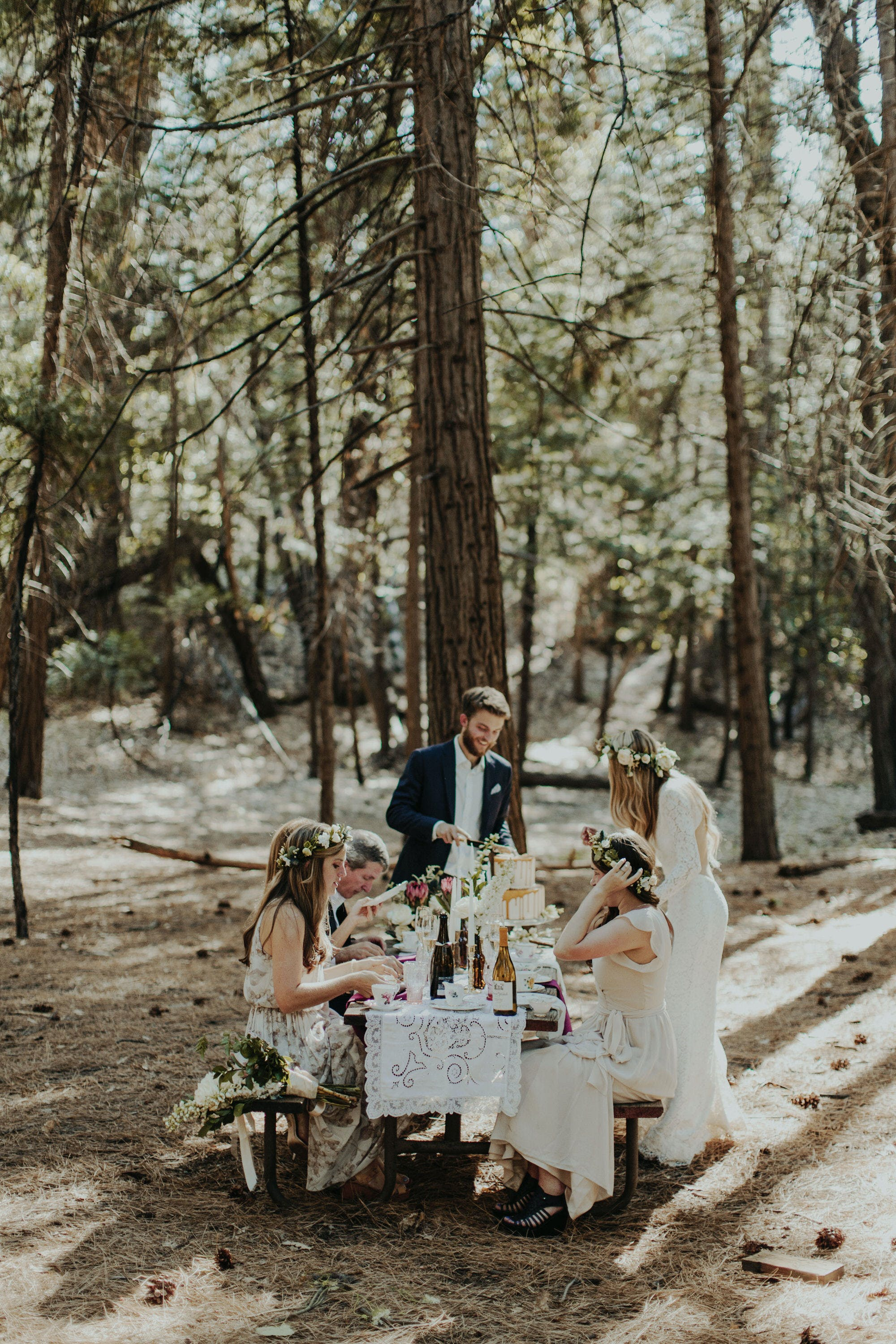 intimate dinner party at reception elopement