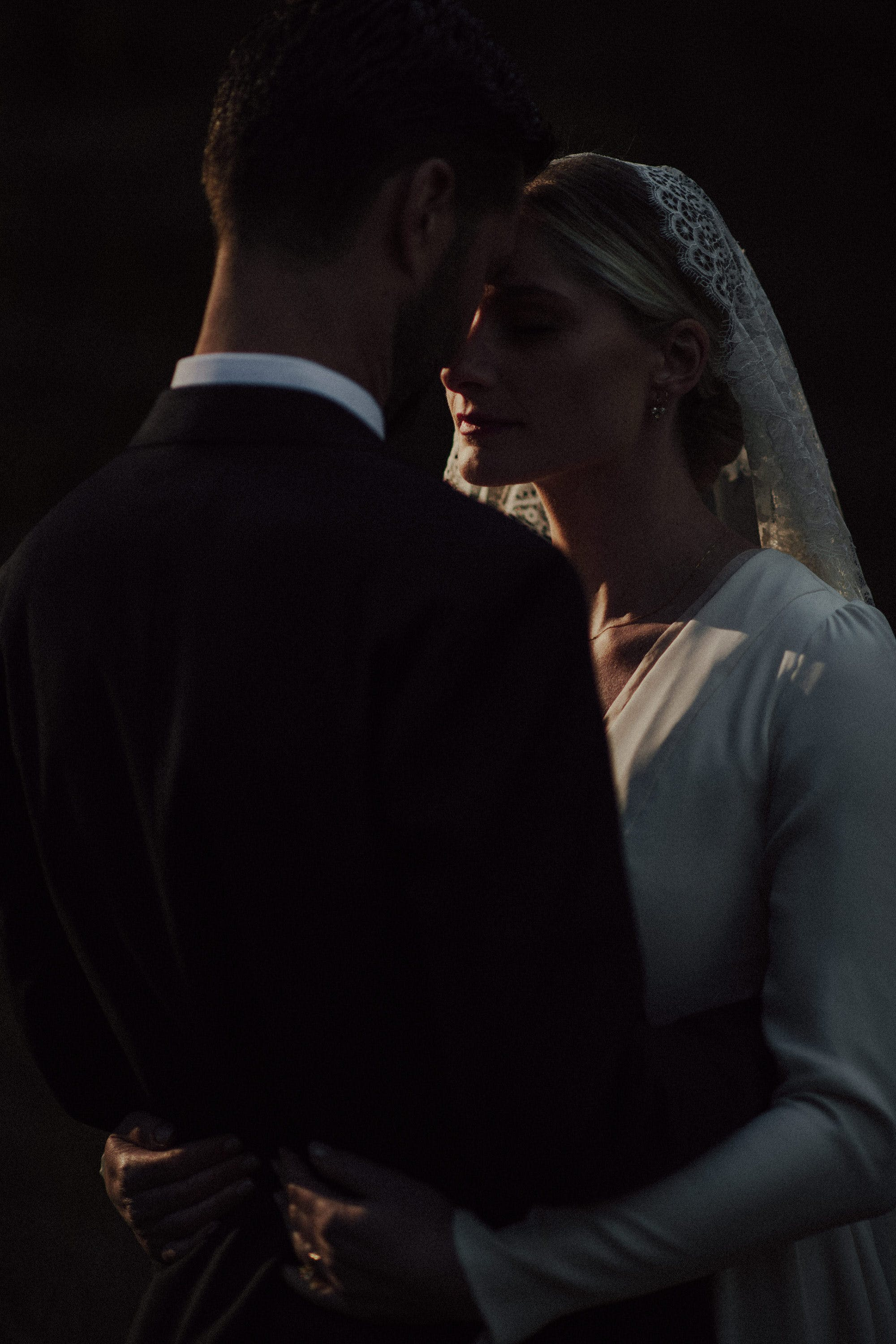 darker moodier wedding photography