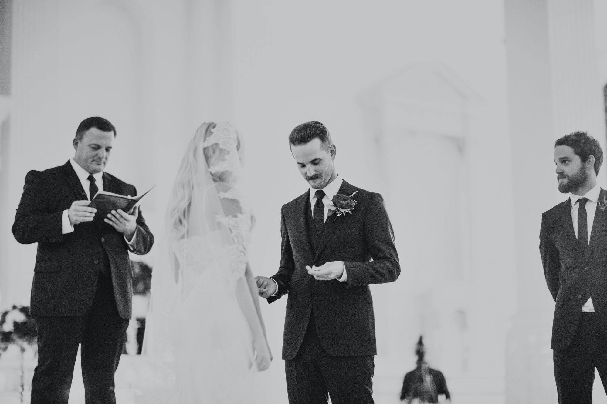 black and white classic wedding photos