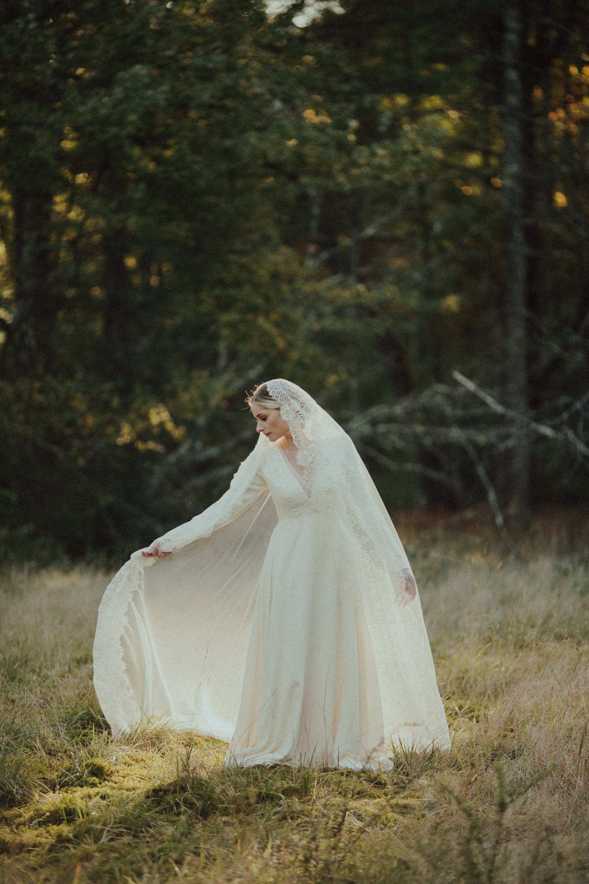 long veil for bride in upstate NY