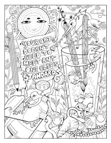 coloring book page no. 1