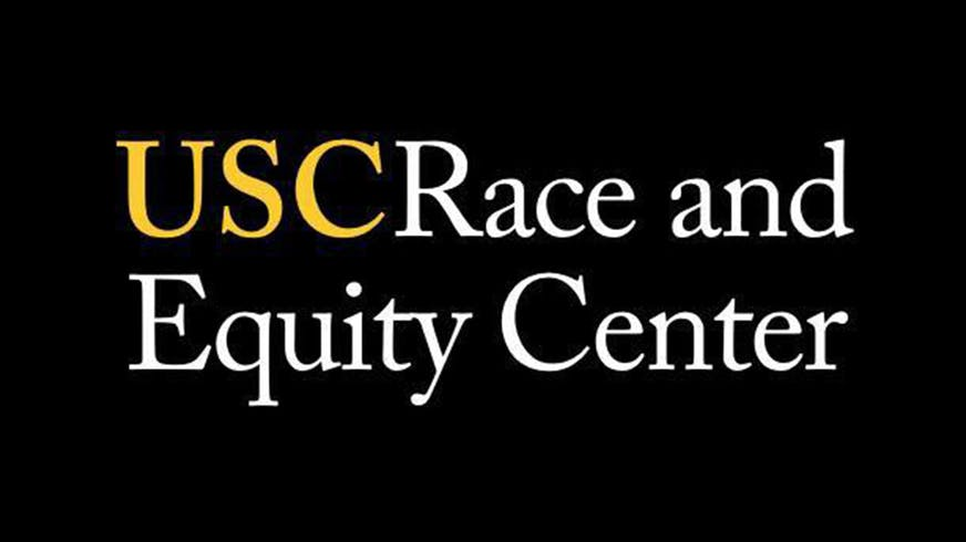 "Text based image that says ""USC Race and Equity Center""."