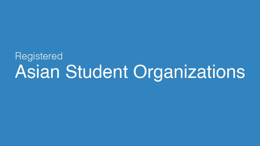 "Text based image saying ""Asian Student Organizations"""