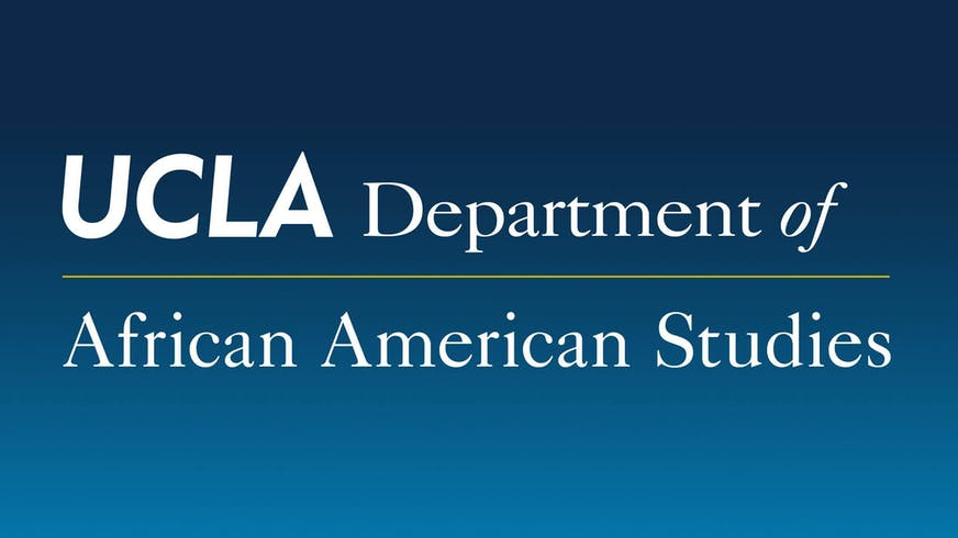 "Text based image that says ""UCLA Department of African American Studies""."