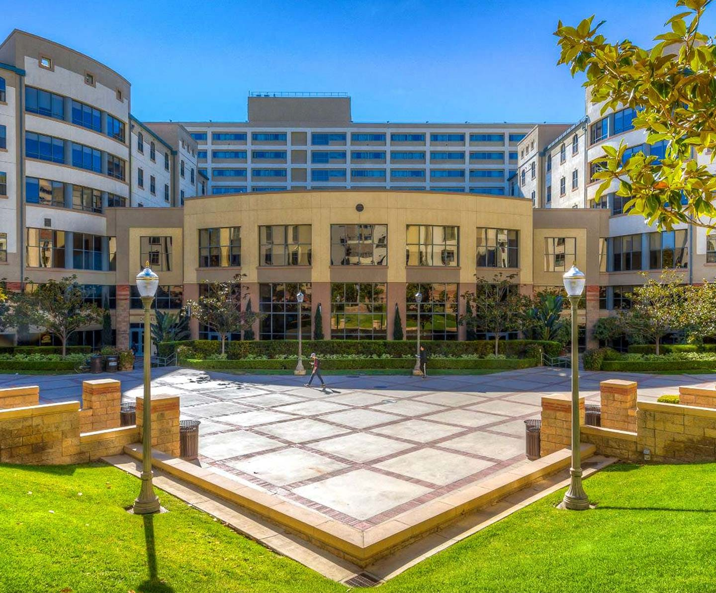 A picture of De Neve Plaza at UCLA