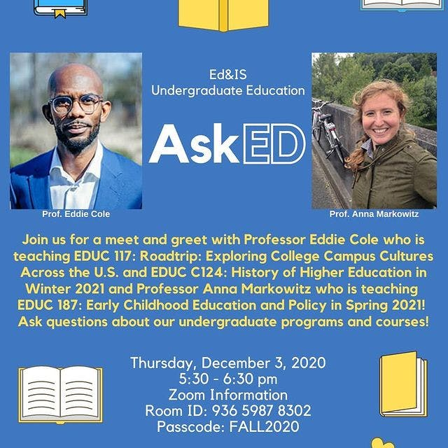 information flyer for the School of Education
