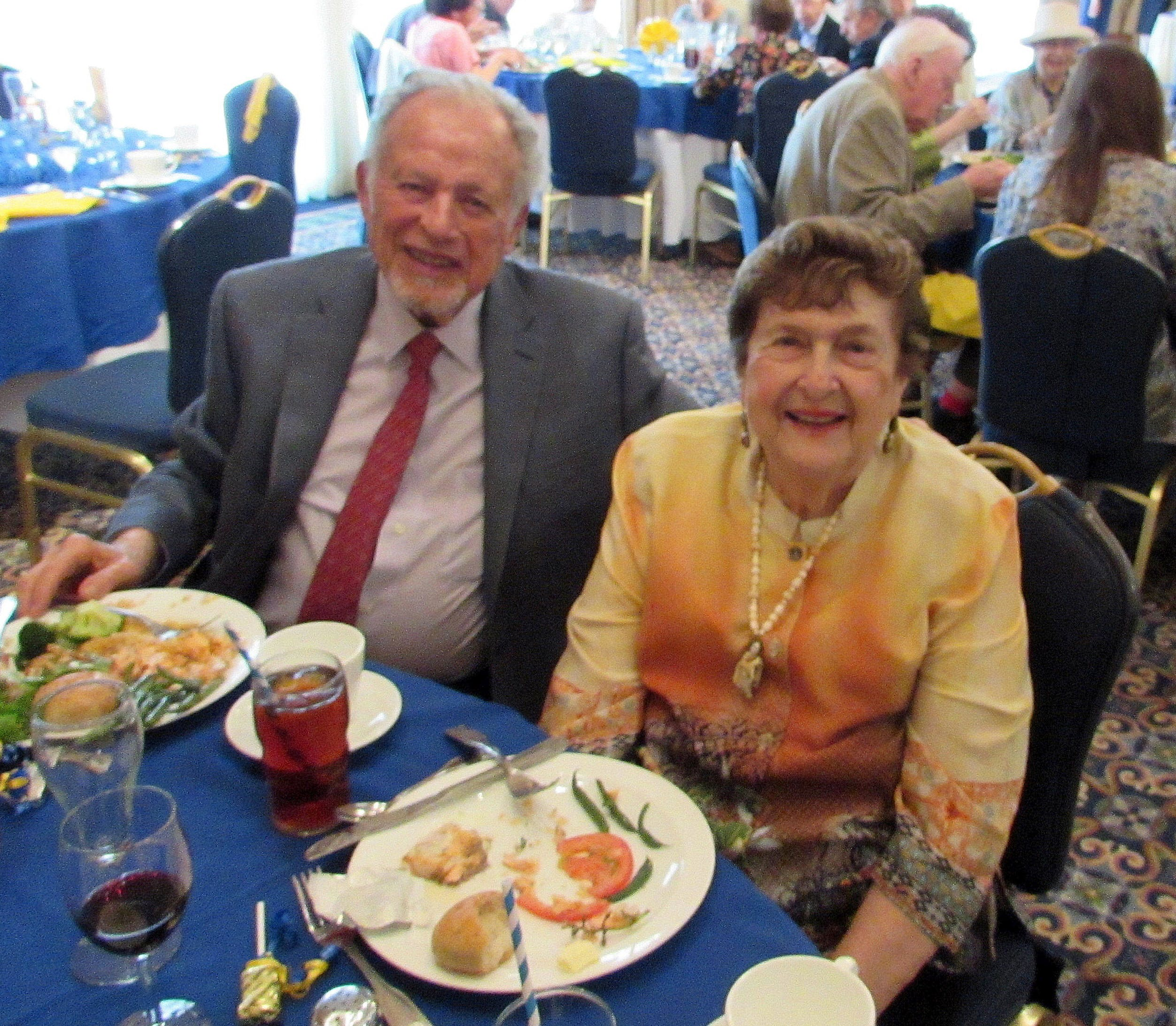 Norma and Sy Feshbach at lunch together