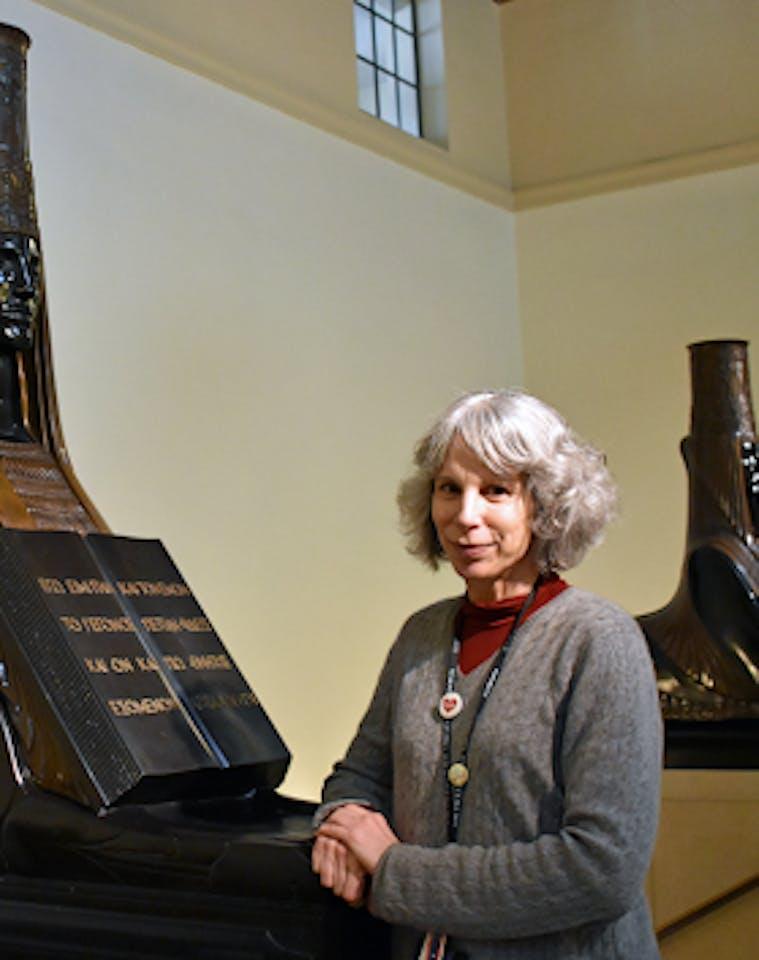 Librarian Eva Mitnick