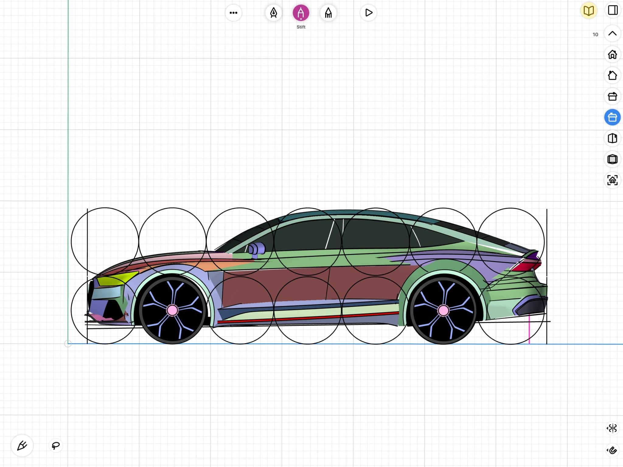 Aleksander Dietrich - Automotive Drawing in uMake