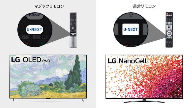 LGの2021年モデルのリモコンに初めて「U-NEXTボタン」を搭載