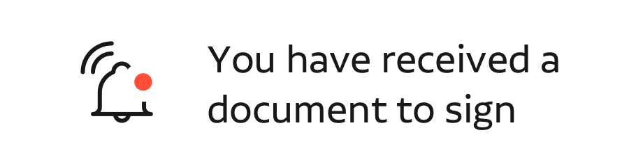 you have received a document to sign