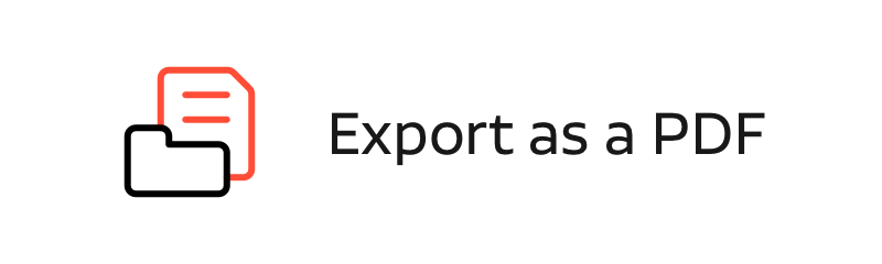 export as a pdf