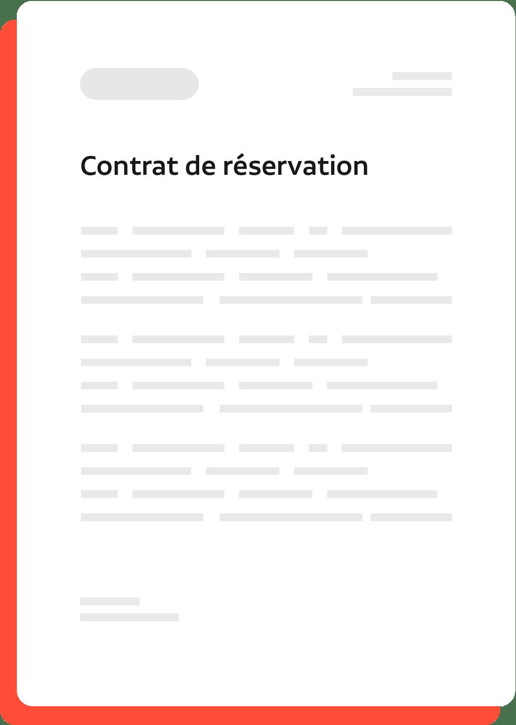 contrat de reservation
