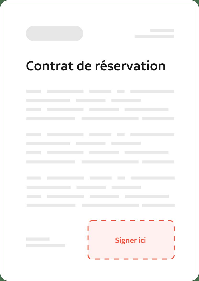 contrat de réservation unlatch