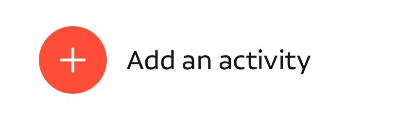 add an activity
