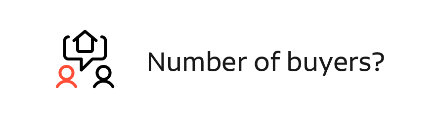 number of buyers