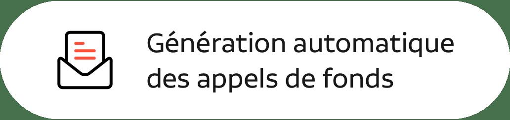 generation automatique des appels de fonds