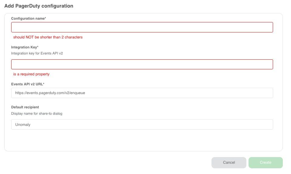 PagerDuty plugin configuration