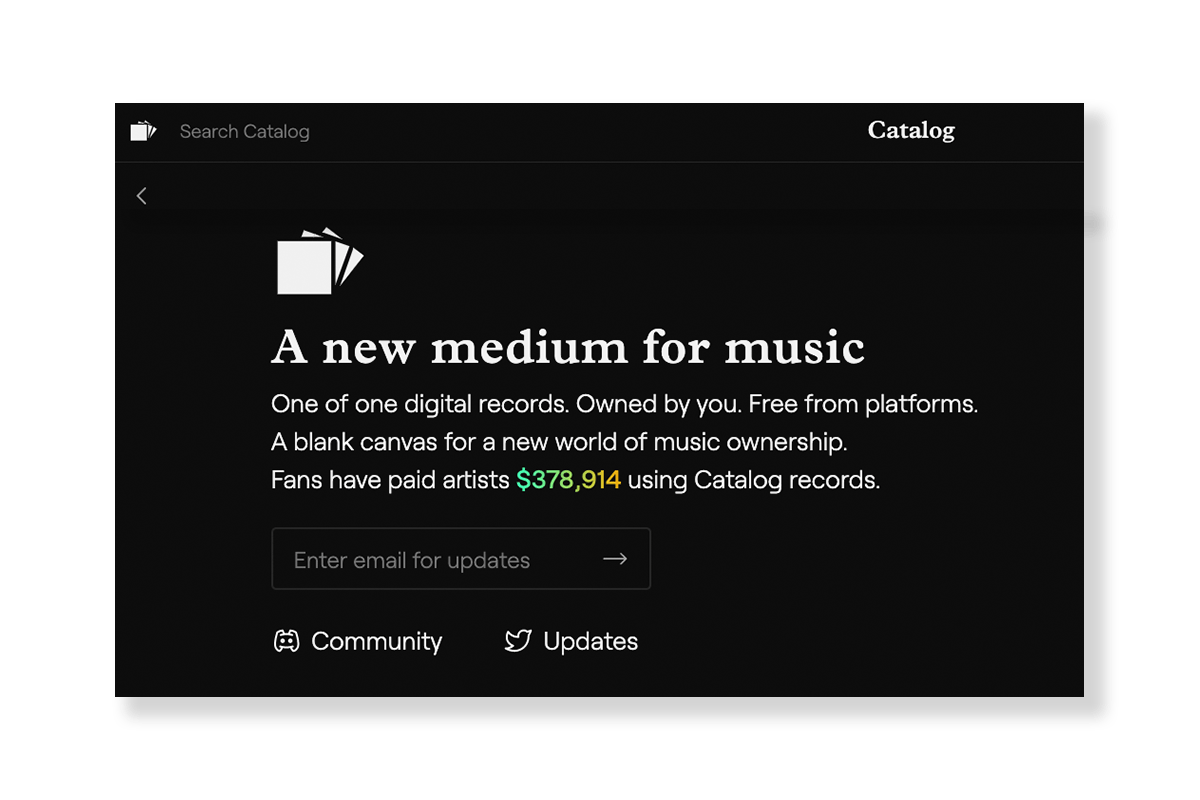 Catalog NFT Music Platform