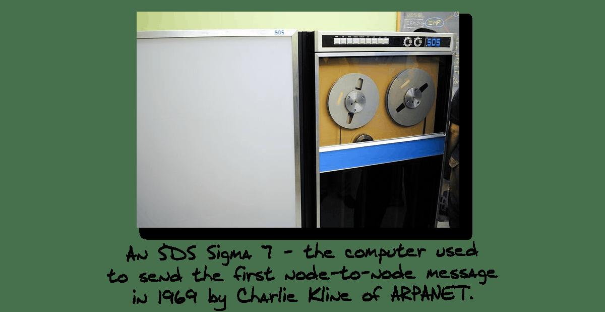 SDS Sigma 7 First Computer to Send Message Over the Internet- ARPANET 1969- Charlie Kline