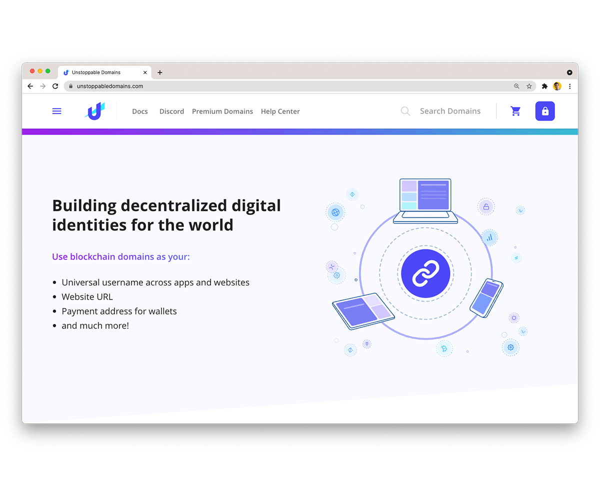 Decentralized Digital Identity with Unstoppable Domains