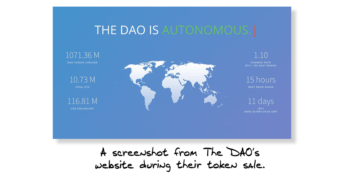 The DAO Token Sale 2016