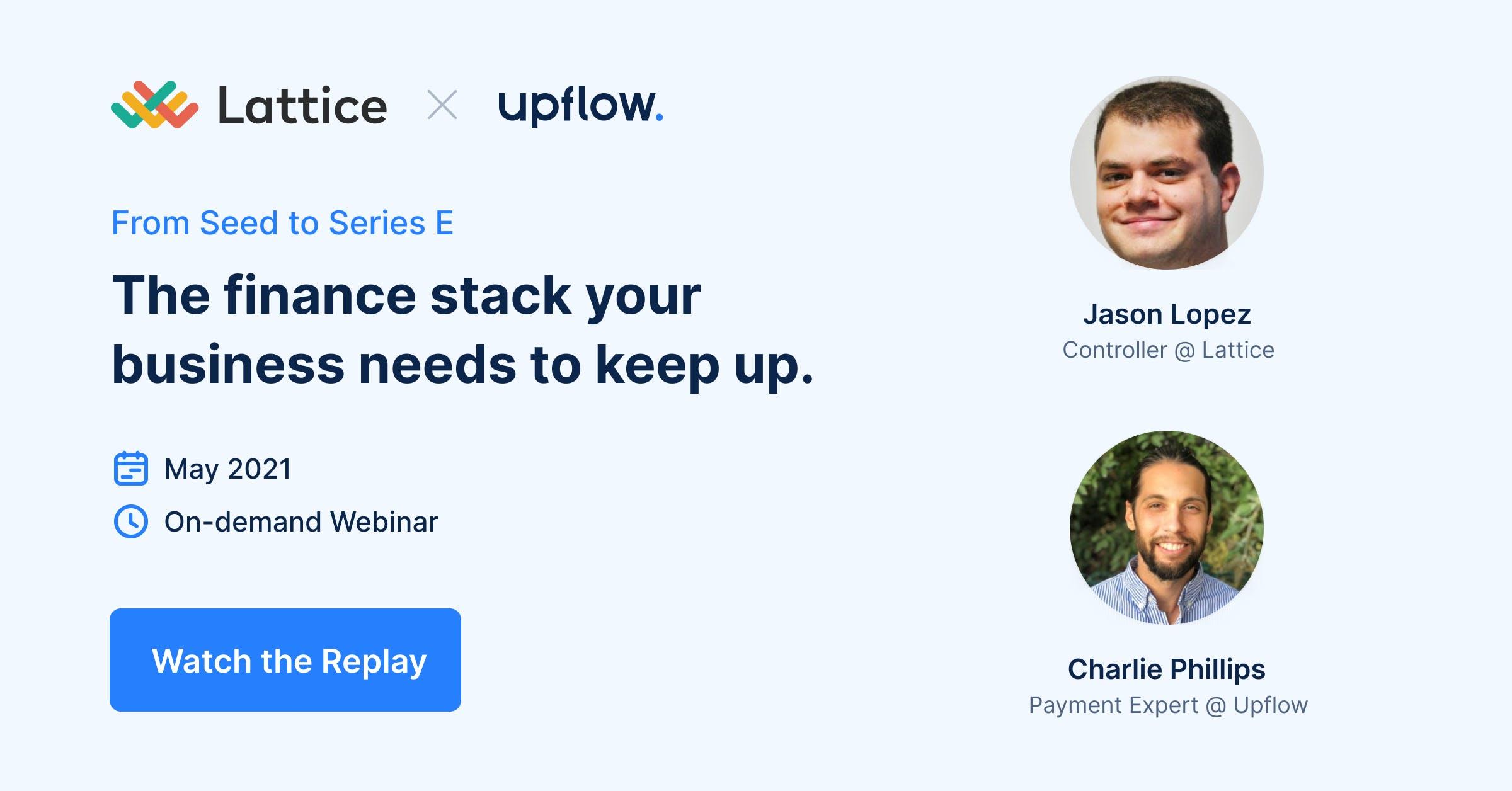 finance stack webinar