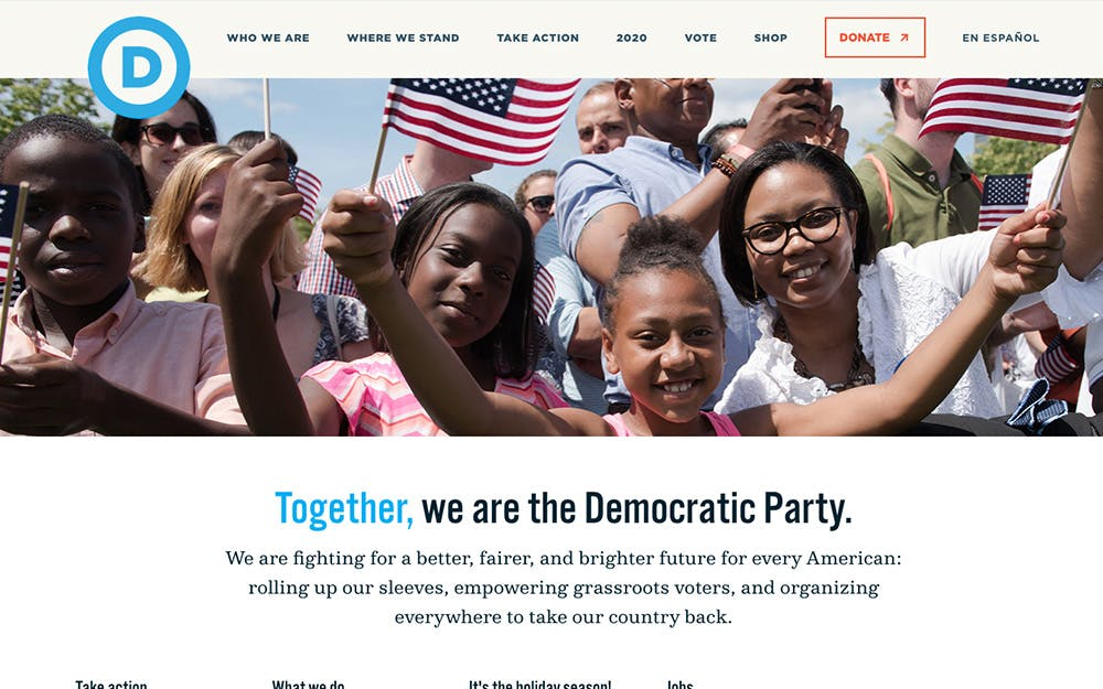 democrats.org screenshot