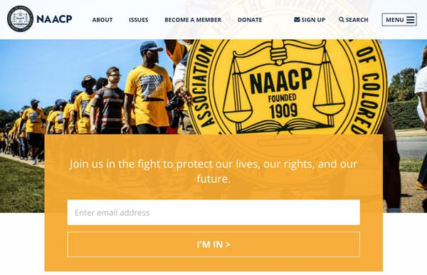 NAACP screenshot